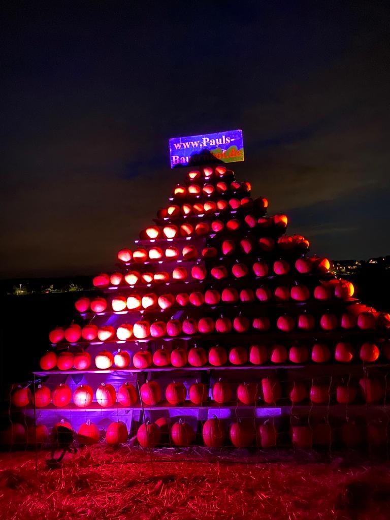 Unsere Kürbispyramide