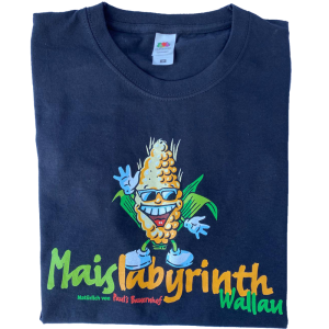 Maislabyrinth Fan T-Shirt in schwarz